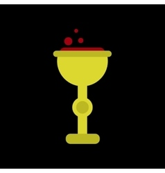 flat icon on background of cup potion vector image
