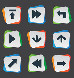Set of 9 simple arrows icons can be found such vector