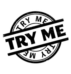 Try me rubber stamp vector