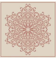 Vintage ornament can be used as a greeting card vector