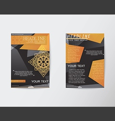 Brochure flyer abstract thai style template in a4 vector
