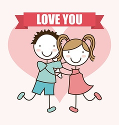 Love kids vector