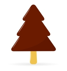 Ice cream christmas tree vector