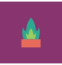 Flower in a pot icon cactus vector
