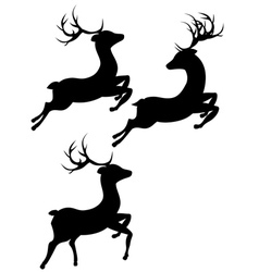 Cartoon deer silhouette2 vector