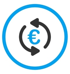 Update euro balance circled icon vector