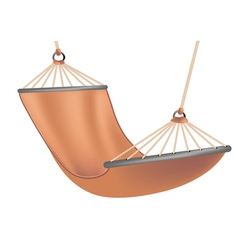 Hammock on white vector