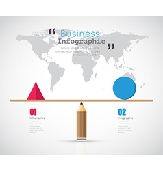 Modern infographic balance for business concept vector