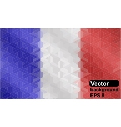 French flag made of geometric shapes vector