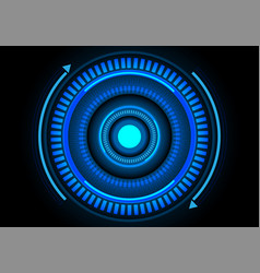 abstract blue energy circle technology vector image