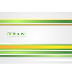 Abstract corporate design with bright stripes vector