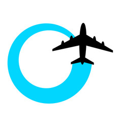airplane flying icon vector image vector image