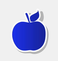apple sign new year bluish vector image