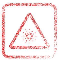 Cardano danger framed stamp vector