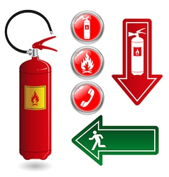 Fire safety vector image