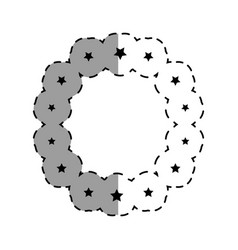Frame with stars decoration vector
