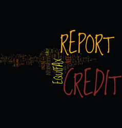 Free equifax credit report text background word vector