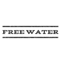Free water watermark stamp vector