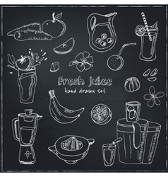 Fresh Juice set Vintage for design vector image
