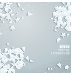 Geometric square banner vector image vector image