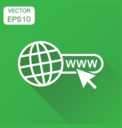 Go to web icon business concept network internet vector