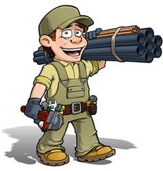 Handyman plumber khaki vector