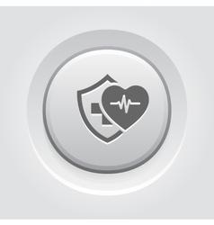 Health insurance icon grey button design vector