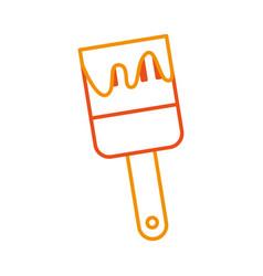 instrument brush work vector image