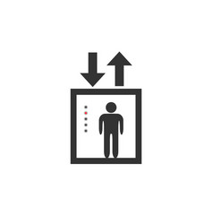 lift icon vector image