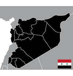 Map of syria vector