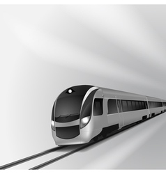 Modern high speed train 1 vector image