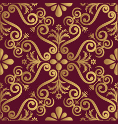 ornamental luxery pattern design golden color on vector image