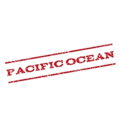 Pacific ocean watermark stamp vector