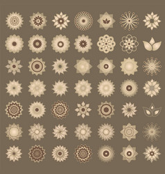 Pack of 49 transparent light vintage abstract vector