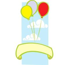 Party Balloon Banner vector image