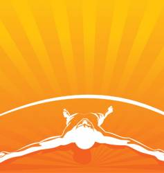 relax orange vector image vector image