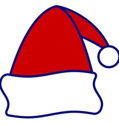 Santa cap vector image vector image