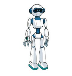 Smart robot futuristic technology vector