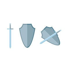 Sword and shield in flat eps vector image vector image