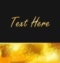 Text gold background vector