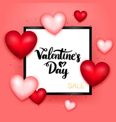 valentines day sale postcard template vector image vector image