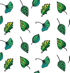 Vintage leaves seamless pattern vector image vector image