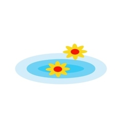 Floating flowers vector