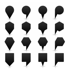Black location icon flat map pins sign web button vector