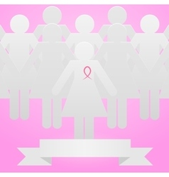 Company against breast cancer vector image