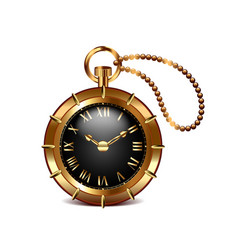 Steampunk clock isolated on white vector