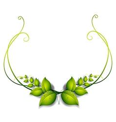 A simple leafy border vector image