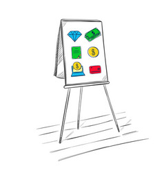 business audit presentation template vector image