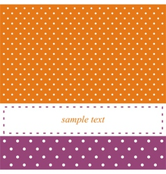 Birthday card or party invitation with white dots vector