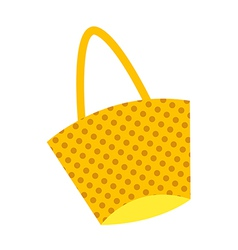 cartoon fashion handbag vector image